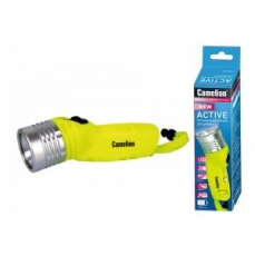 Фонарь Camelion LED51534 (фонарь, желт, LED 3W SEOUL глуб 30м, 4xLR6, дайв, пласт+алюм., блистер)/20