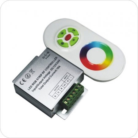 Контроллер RGB ZC-3000RF WH (белый)   12/24V 144/216Вт