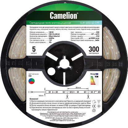 Camelion SL-5050-60-C01 (LED лента 5050, 5 метров, 60LED, IP20, белый)