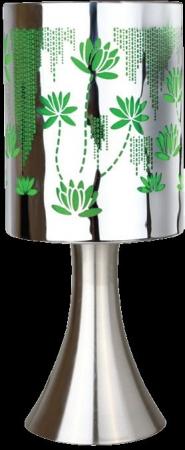 """Светильник настольный Camelion KD-411""""Растения"""" зелён.(сенсорн.включ-е, 220V,40W,E14)"""