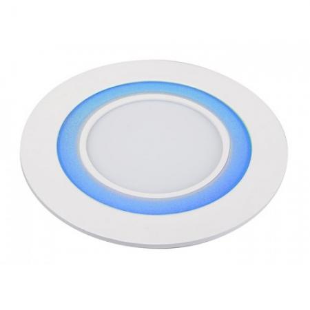 Jazzway светодиодная  круглая панель PPL-R 180140 (12031) 12W/4W 6500K blue 3 pin