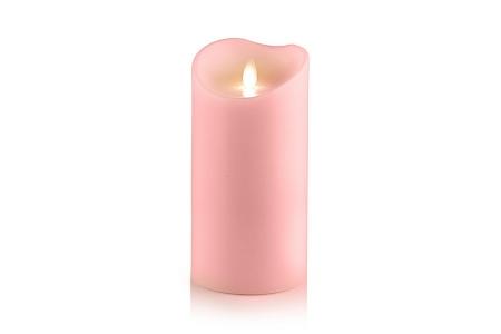 Свеча светодиодная восковая розовая