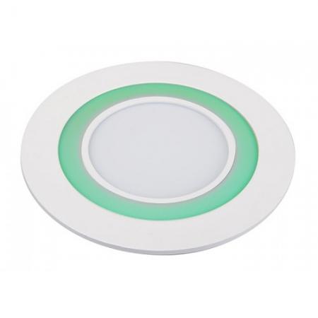 Jazzway светодиодная  круглая панель PPL-R 180140 (12031) 12W/4W 6500K green 3 pin