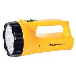 Фонарь Ultraflash LED3816SM (аккум. 220В, желт., 9LED, 2 режима, SLA, пласт., коробка) 1/40