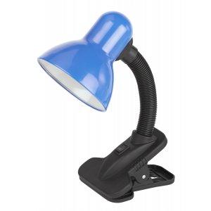 Светильник настольный с прищепкой ЭРА N-102-E27-40W-BU синий (30/240)