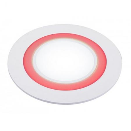 Jazzway светодиодная  круглая панель PPL-R 180140 (12031) 12W/4W 6500K red 3pin