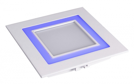 Jazzway светодиодная  квадратная панель PPL-S 180140 (12031) 12W/4W 6500K blue 3pin