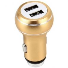 PERFEO Автомобильное зарядное устройство с двумя разъемами USB, 1А + 2.1A, металл (I4610) /80