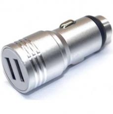 PERFEO Автомобильное зарядное устройство с двумя разъемами USB, 1А + 2.1A, металл (I4612) /100
