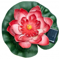 """Светильник на солнечной батарее """"Кувшинка розовая"""" меняет цвет, водный, TDM SQ0330-0140"""