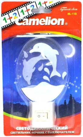 """Ночник Camelion NL-118 """"Дельфин"""""""