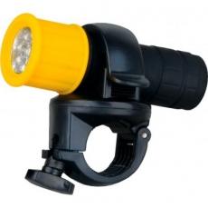 Фонарь Ultraflash LED652 (фонарь велосипедный., пластик., желтый, 9 LED, 3xR03) 1/12/48