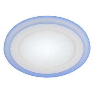 ЭРА Светильник светодиодный круглый с синей подсветкой LED3-6 6W 220V 4000K BLUE