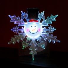 Светильник  SNF-SC-04 Снежинка с присоской , 1 RGB светодиод