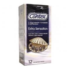 Презервативы Contex №12 Extra Sensation (с крупными точками и ребрами)