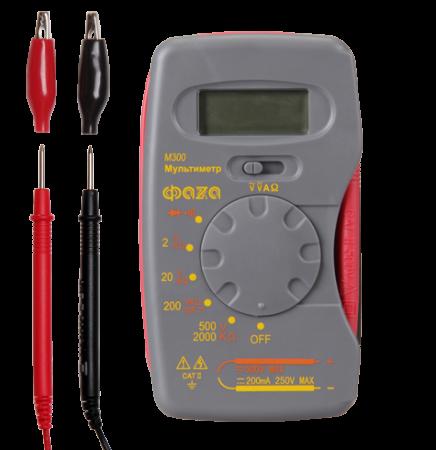 Мультиметр (вольтметр+амперметр+тестер) ФАZA цифровой М300