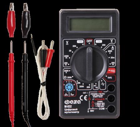 Мультиметр (вольтметр+амперметр+тестер) ФАZA цифровой М832