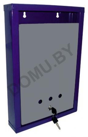 Почтовый ящик металлический 390х260х60 сине-серый (ХИТ ПРОДАЖ!)